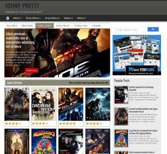 Prett Movie Template For Blogger Template For Blogger