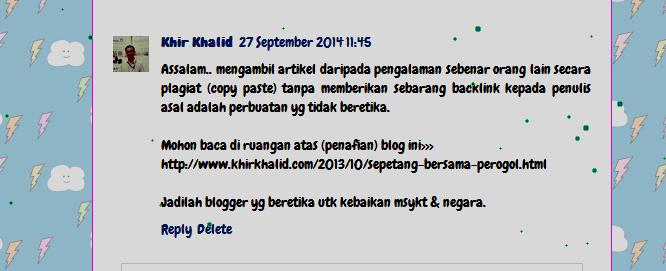 Jadilah beretika, Blogger Malaysia
