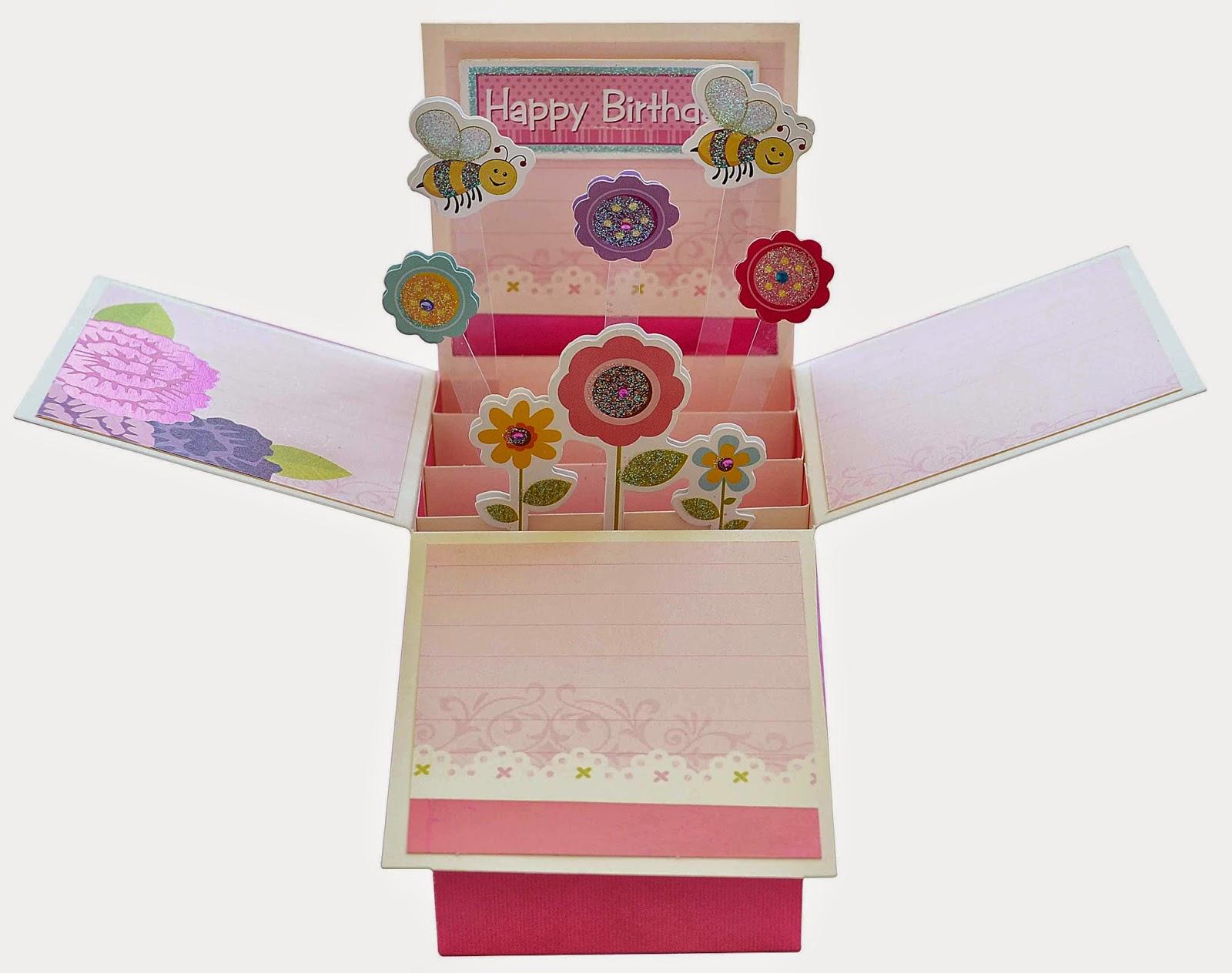 Birthday Cards Box ~ Itsy bitsy the place pop up box birthday card