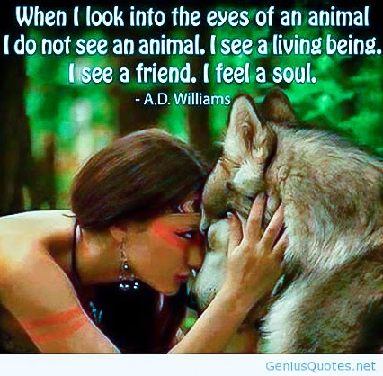 """When I look into the eyes of an animal I do not see an animal. I see a living being. I see a friend. I feel a soul."" ~ A.D. Williams Picture of a woman looking into the eyes of a Siberian Husky."