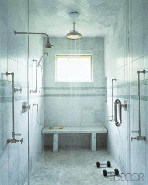 Bathroom stone marble shower walls wainscoting renovation for Bathroom designs without tub