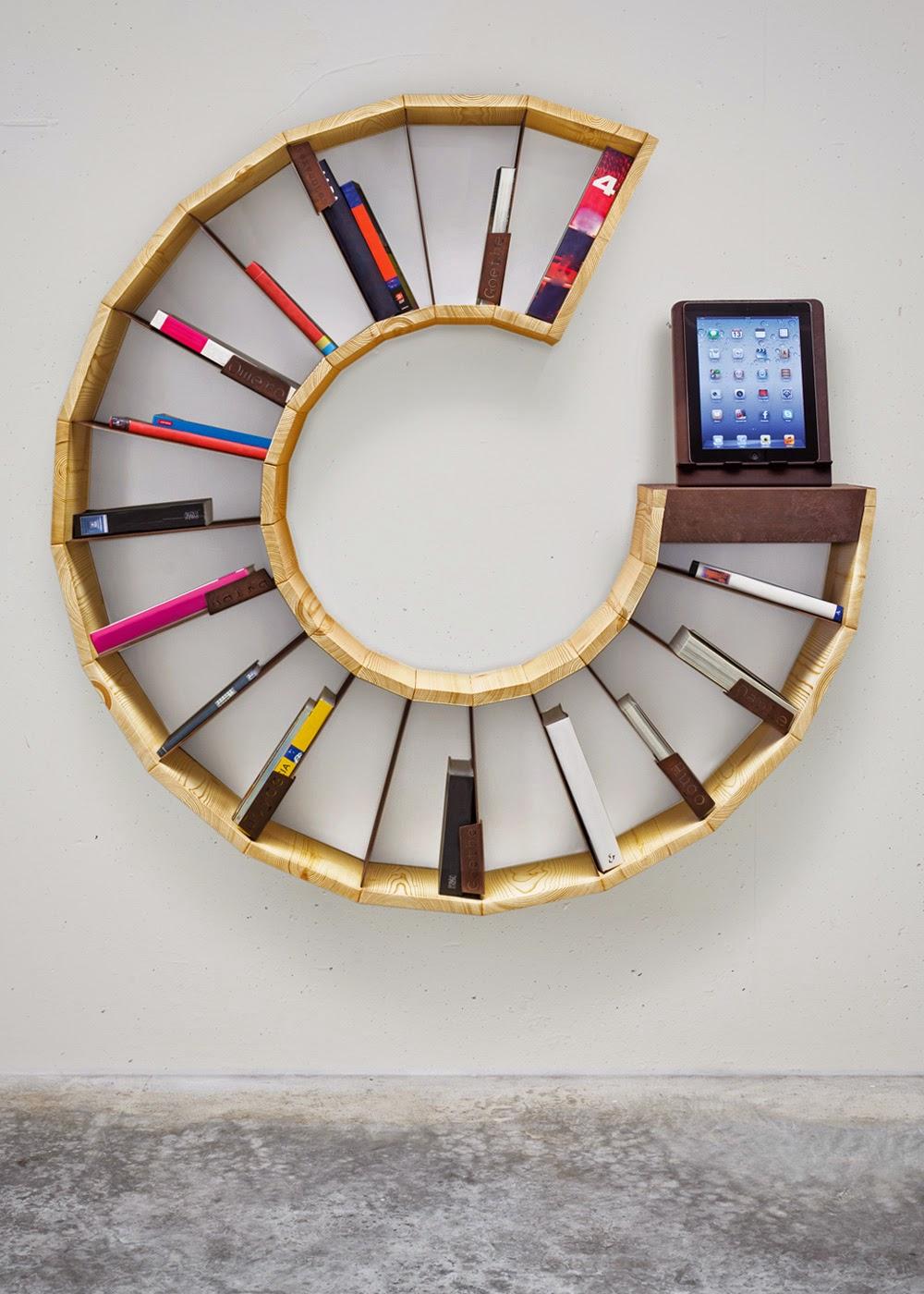 إبداع في تصميم مكتبة منزلية