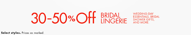 Bridal lingerie - 30% to 50% DISCOUNT