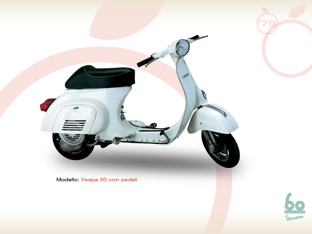 vespa 50 with pedals