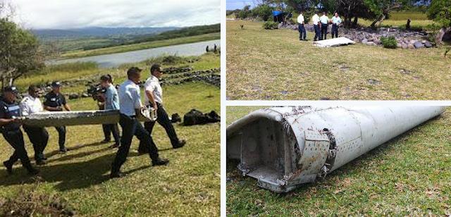 GAMBAR : Serpihan Pesawat Disyaki MH370 Dijumpai Terdampar di Pulau Reunion