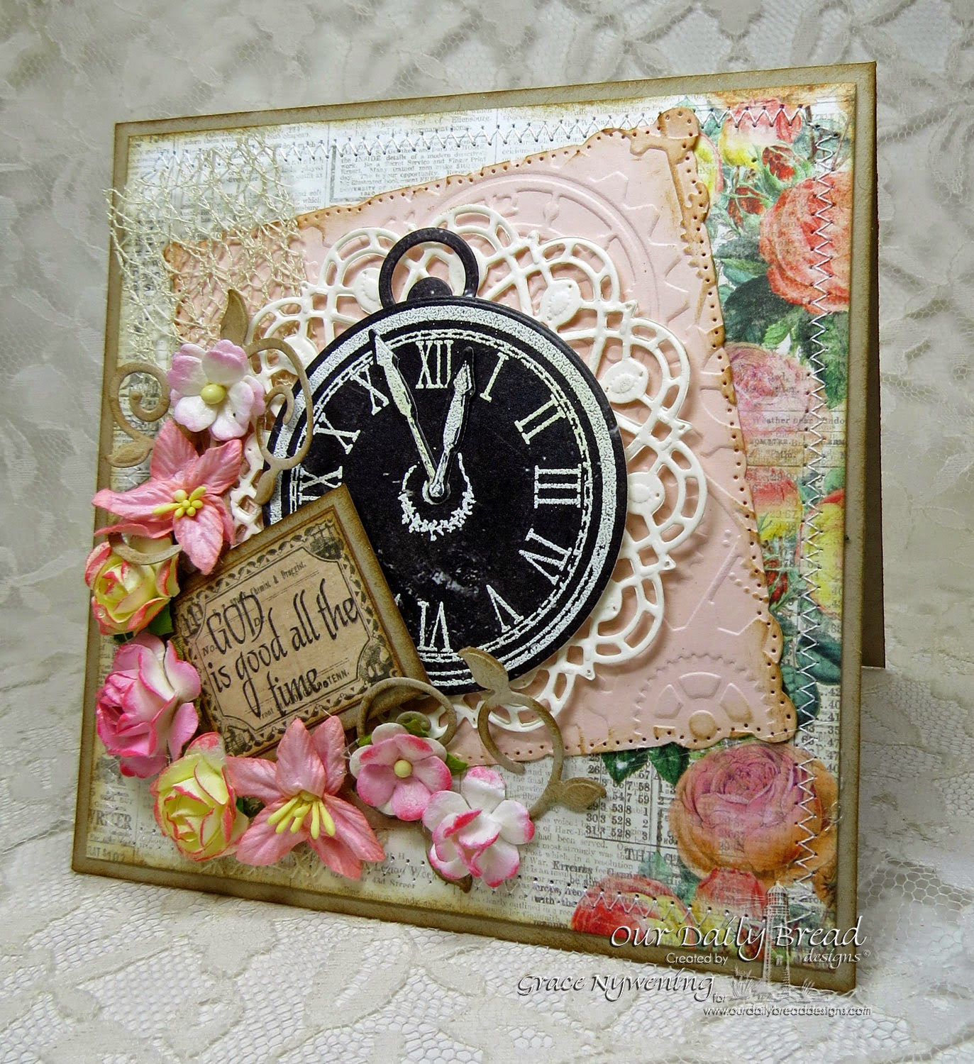 ODBD stamps: God's Timing, designed by Grace Nywening
