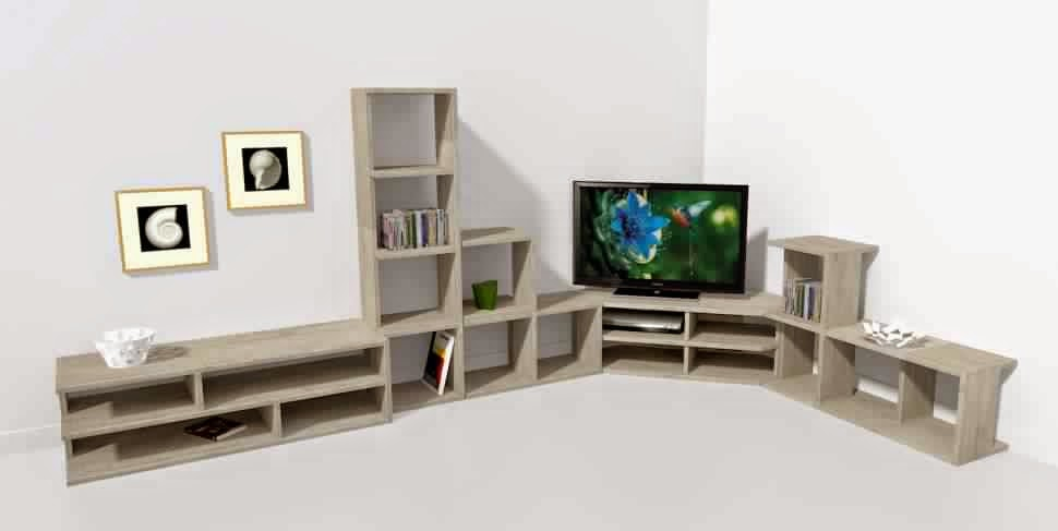 meuble tv angle avec rangement meuble tv. Black Bedroom Furniture Sets. Home Design Ideas