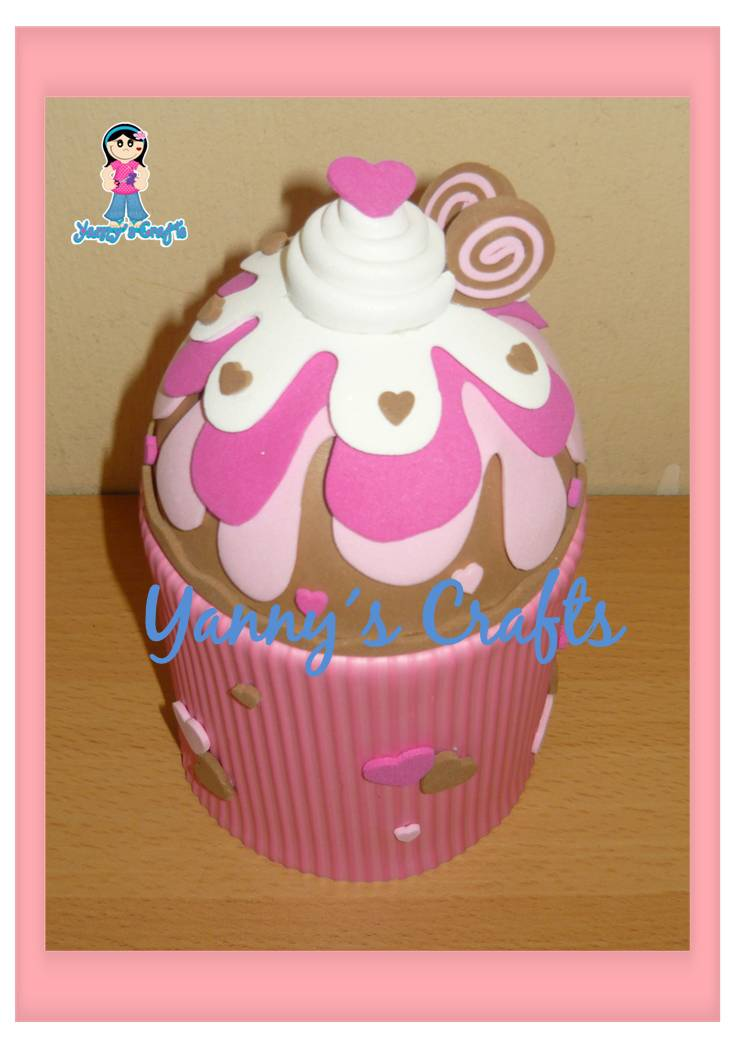 Paso a paso con jeannine como hacer cupcakes goma eva - Con goma eva ...
