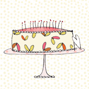 birthday cake candles cake stand greeting cards stationery designers Liz and Pip Ltd