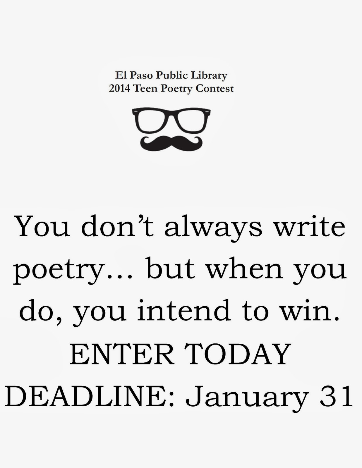 Poetry Contest For Teens 2014