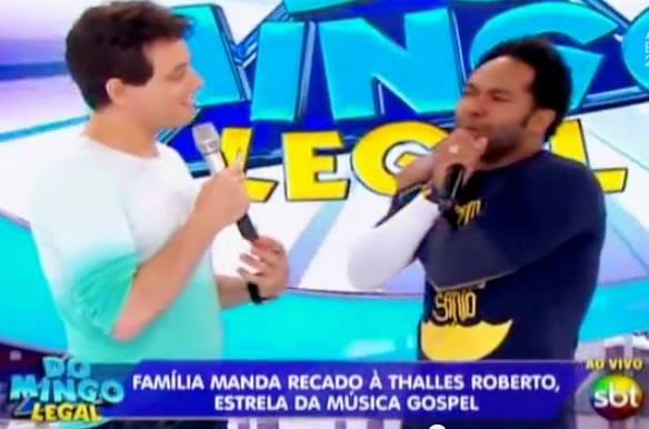 "Thalles Roberto participa do programa ""Domingo Legal"""