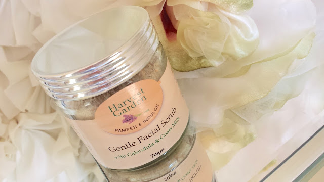 HARVEST GARDEN GENTLE FACIAL SCRUB AUSTRALIAN NATURAL HAND MADE SKINCARE FACE AND BODY REVIEW