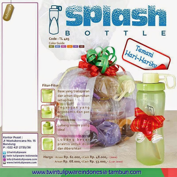 Splash Bottle Tulipware Flyer 2014