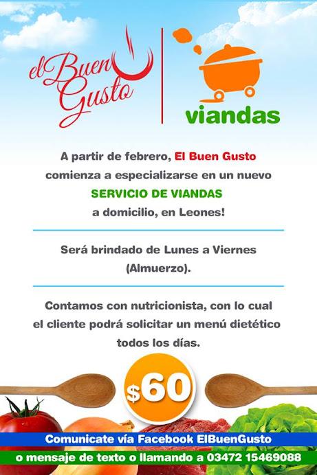 """ESPACIO PUBLICITARIO: VIANDAS """"EL BUEN GUSTO"""""""