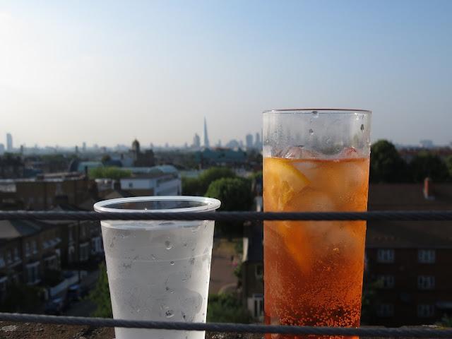 Frank's Cafe Peckham Rooftop Aperol Spritz