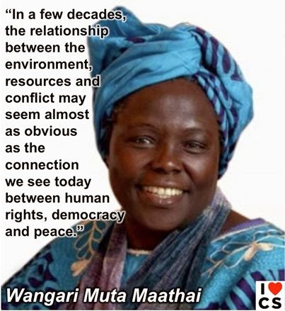 Tree planting Nobel prize winner Wangari Maathai was a great advocate of conserving the environment