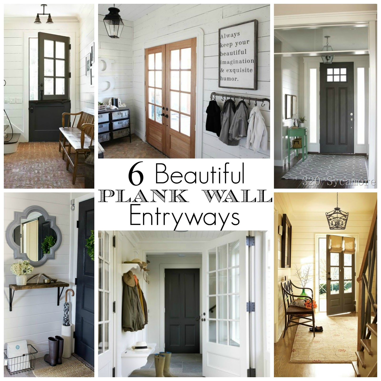 6 beautiful plank wall entryways little house of four creating a beautiful home one thrifty