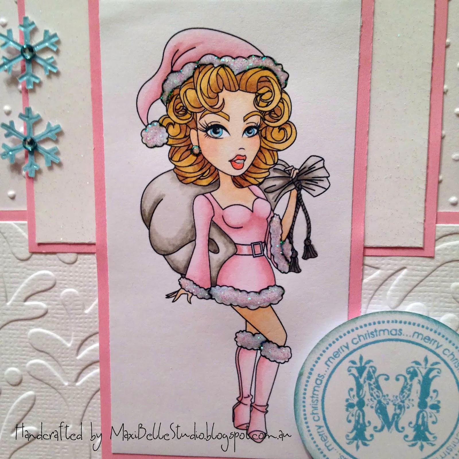 Sassy Studio Designs Santa Pin-Up
