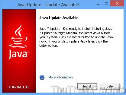 Tải về JAVA Version 7 Update 25 mới nhất cài đặt Offline