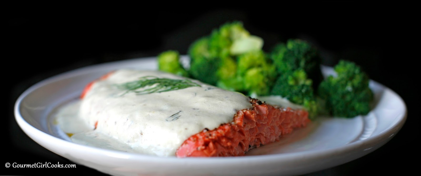Roasted Copper River Salmon Dijon Cream Sauce With Dill