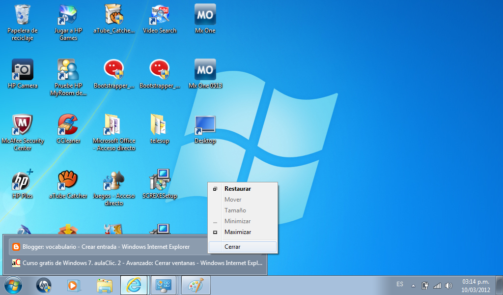 Curso gratis de Windows 7. aulaClic. 4 El Explorador de