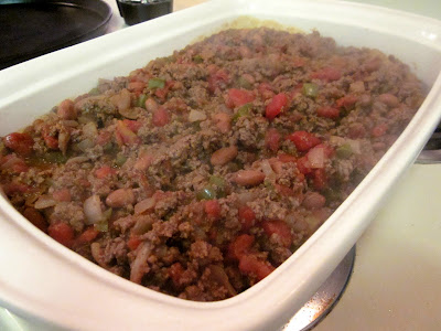 Talerine beef taco bake is Hamburger Cornbread Casserole Recipe