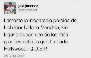 Javi Jiménez confunde a Nelson Mandela con Morgan Freeman