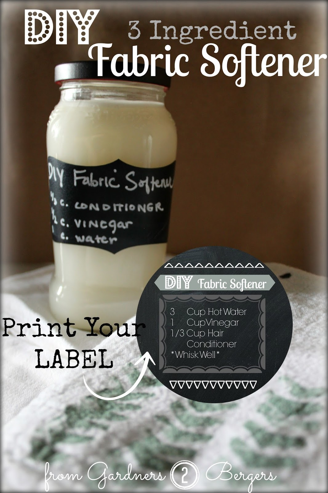 DIY Fabric Softener and Printable Label