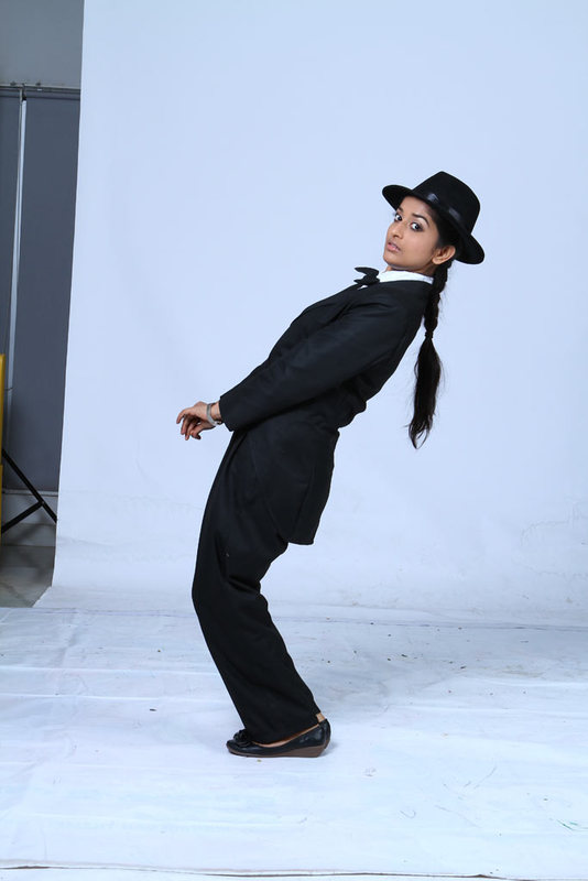 Meera Jasmine latest Photoshoot as Charlie Chaplin for Anbulla Kamal movie unseen pics