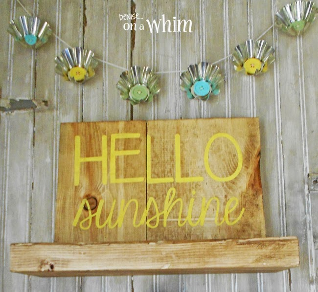 Hello Sunshine Sign from Denise on a Whim