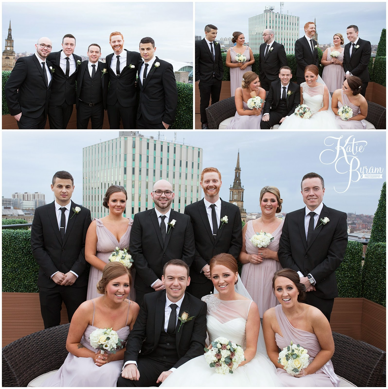 group photograph wedding, newcastle city centre wedding, the vermont hotel,vermont weddings, newcastle wedding venue, katie byram photography, hotel wedding newcastle, quayside, nighttime wedding photographs