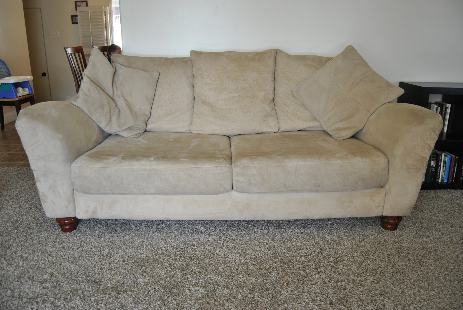 Our moving sale microfiber couch and loveseat 300 for Deep couches for sale
