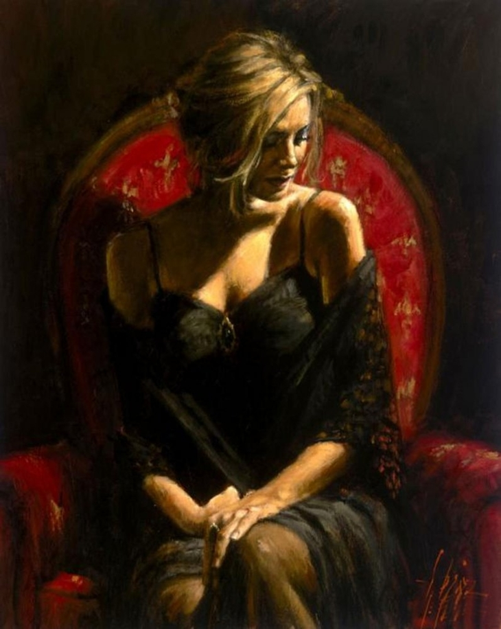 Fabian Perez Oil Painting