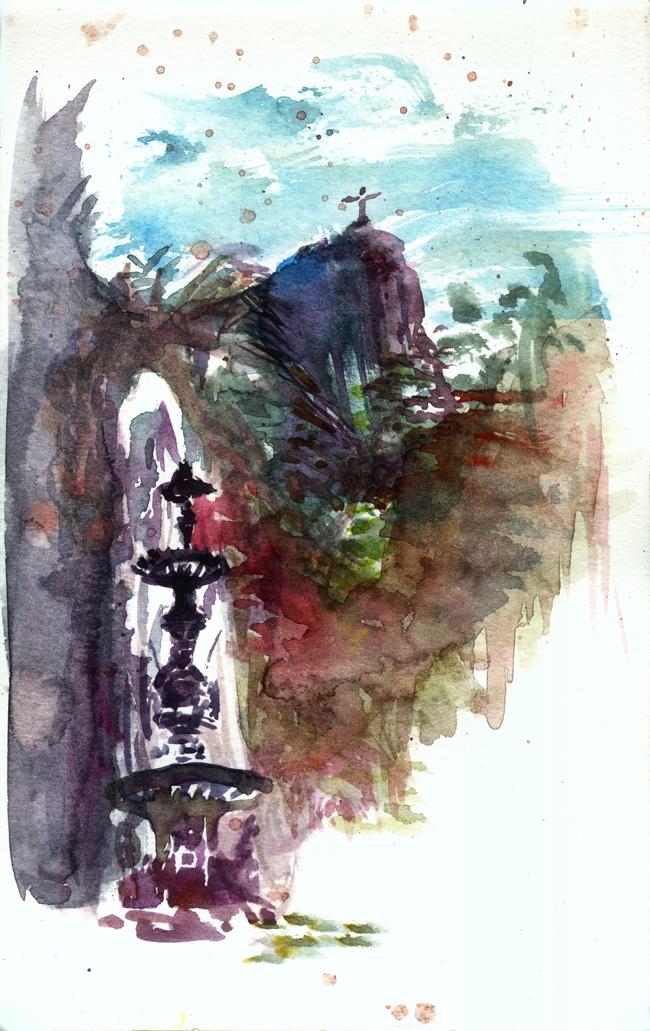 """Shiho Nakaza """"Rio de Janeiro"""" Rio watercolor sketch sketching """"travel sketching"""" """"Jardim de Botanico"""" """"Botanical Garden"""" nature"""