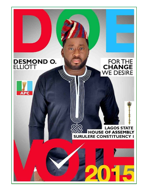 Actor, Desmond Elliot wins APC ticket for Lagos State House Of Reps.