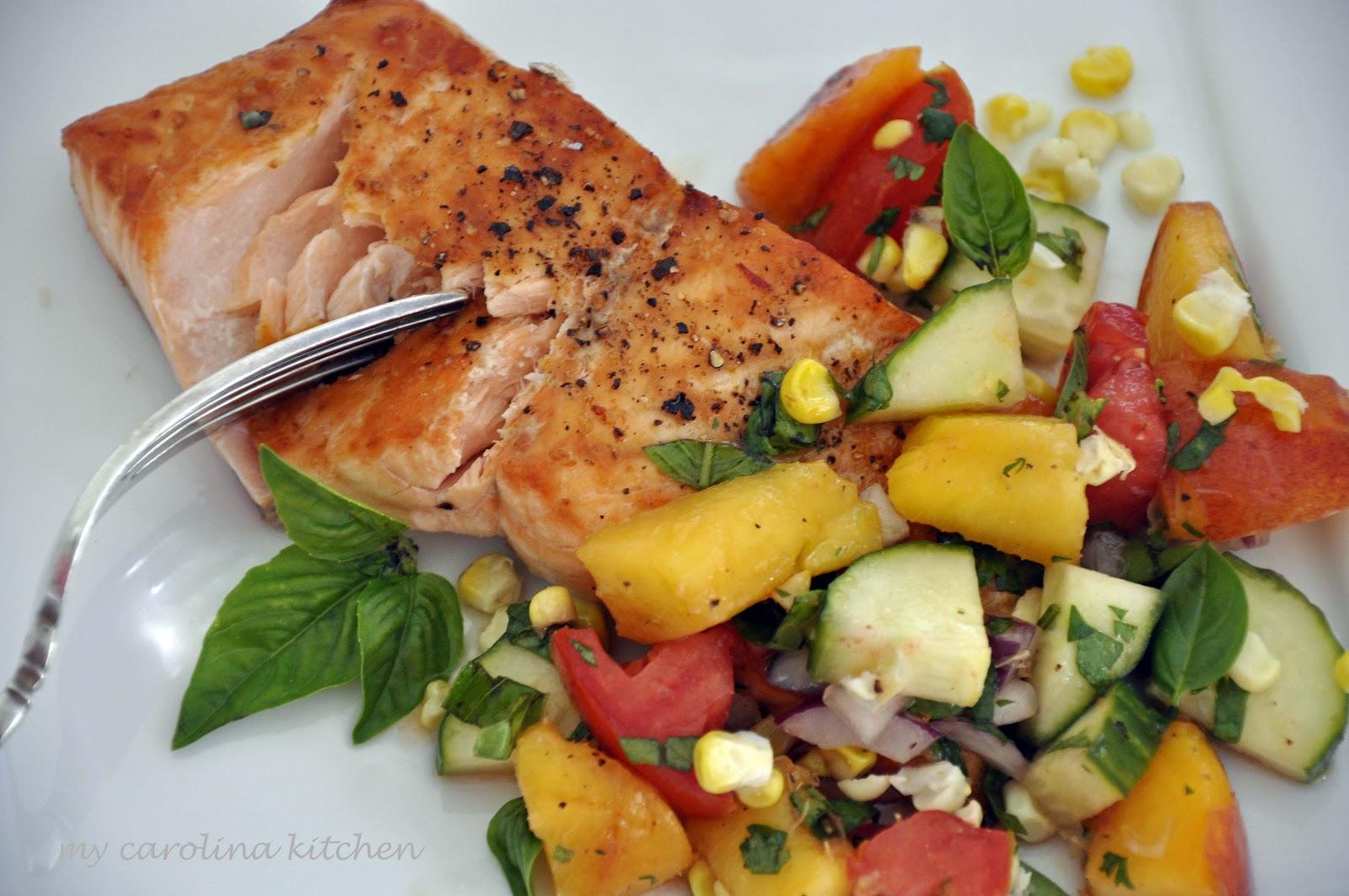 20170420bakedsalmonharissalimeaiolivickywasik Broiled Salmon Preparation:  How To Broil Salmon + A Peach Salsa