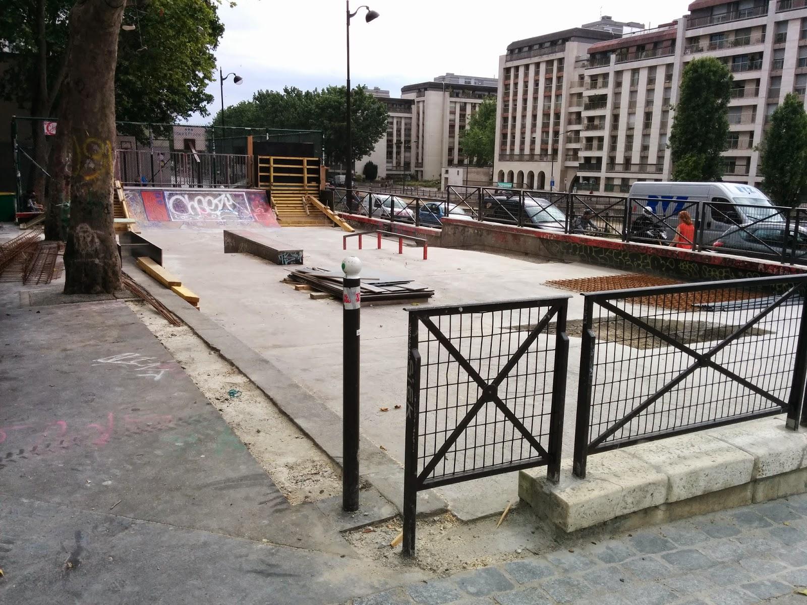 Travaux skatepark jemmapes