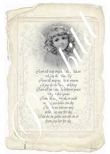 Fin text och LJUVLIG ängel - NY Vintagebild
