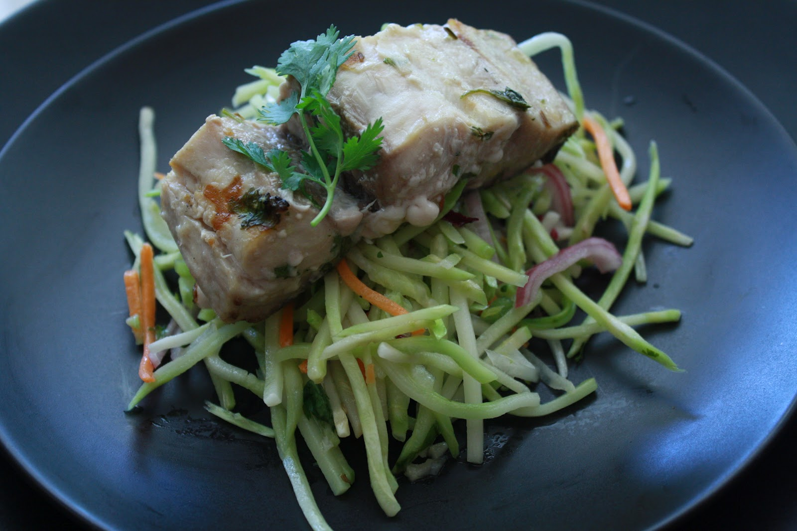 Sip And Chew: Grilled Fish on Cilantro-Chili Slaw