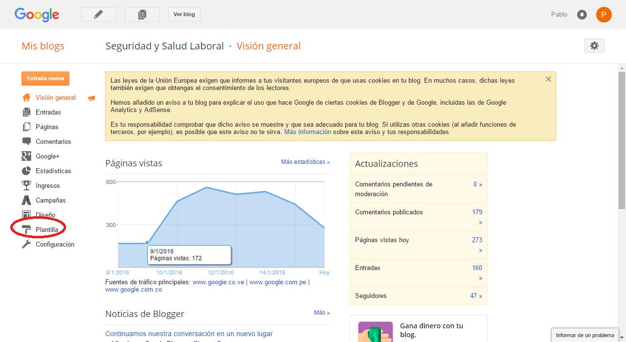 Como instalar plantilla de blogger o blog 2016 - Recursos para ...