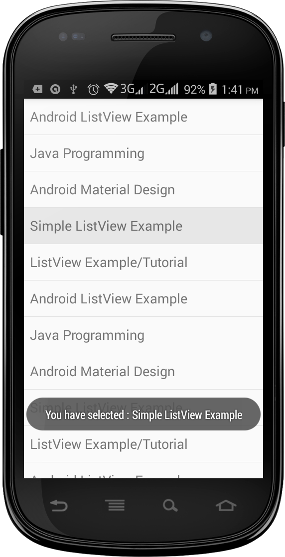 Simple Android ListView Example: How to Create a Simple Android ListView