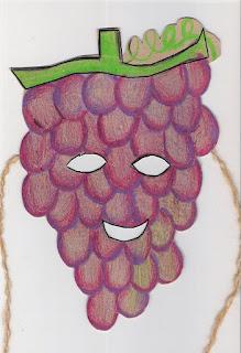 Máscara de uva -símbolo da páscoa