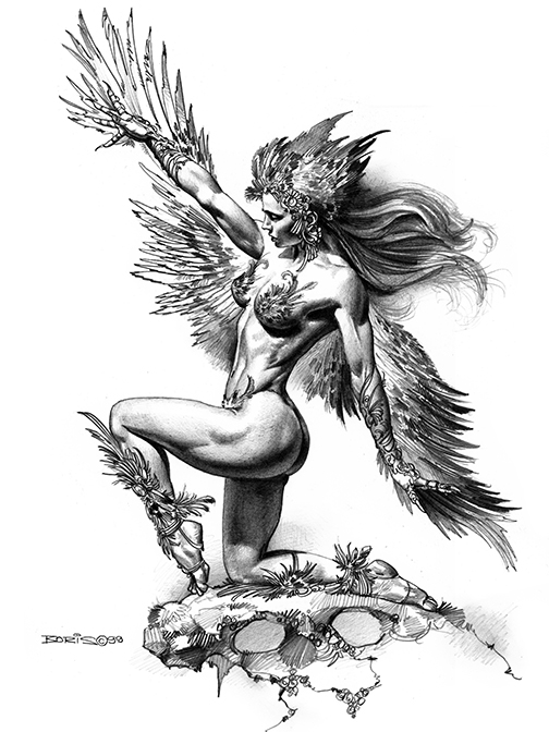 The geeky nerfherder vallejotuesday 39 bird woman 39 by for Art of minimal boris