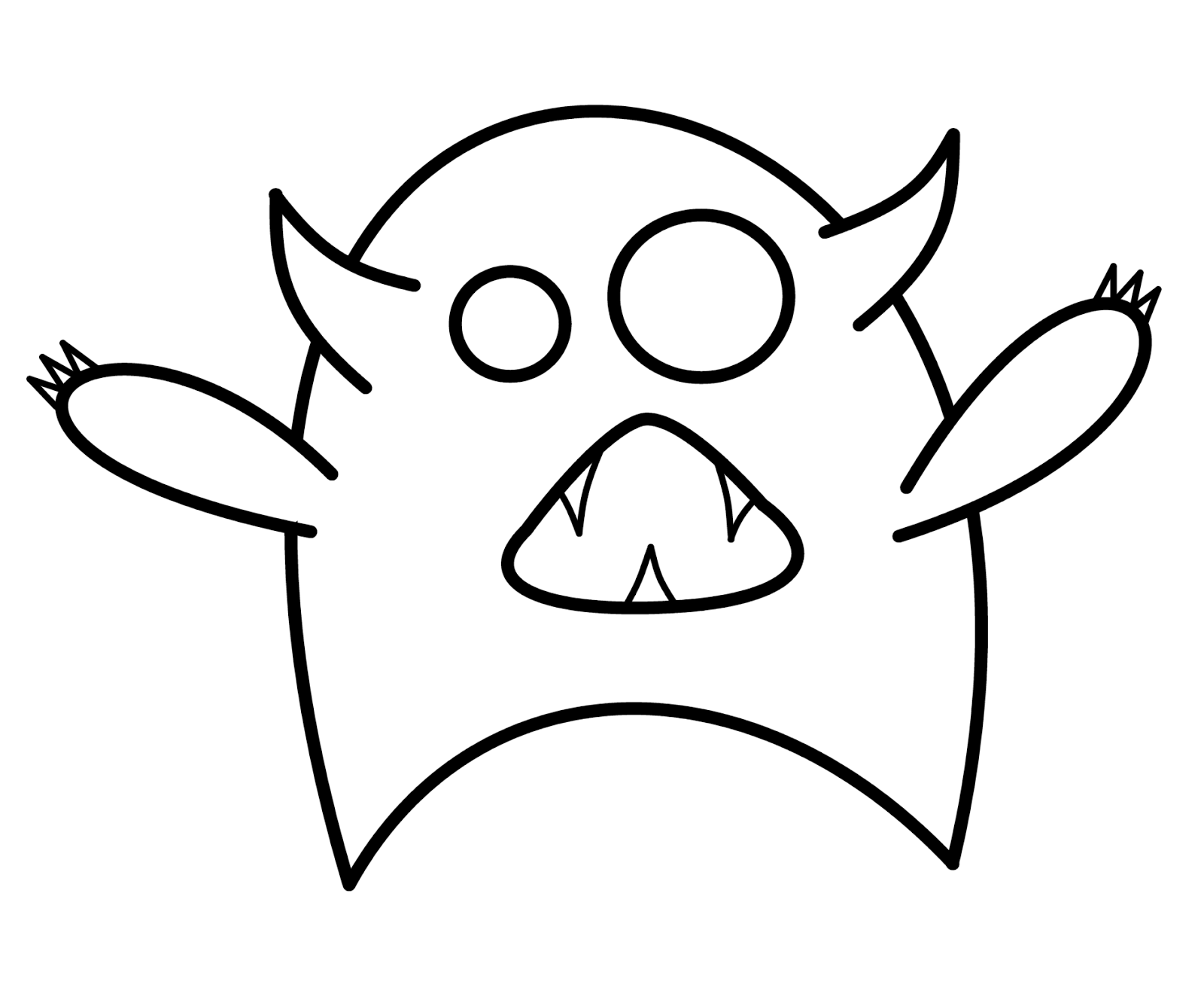 Scribble Monster Drawing : How to draw cartoons january