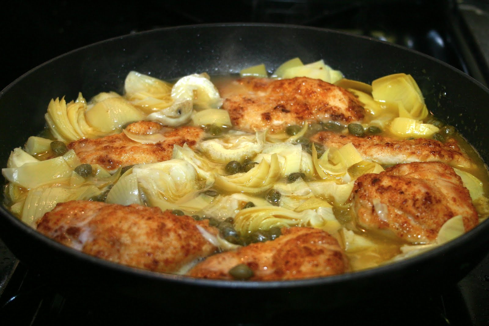 Food, Wine, and Home: Lemon Chicken with Artichokes ...