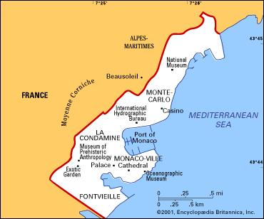 World Map Monaco Monte Carlo