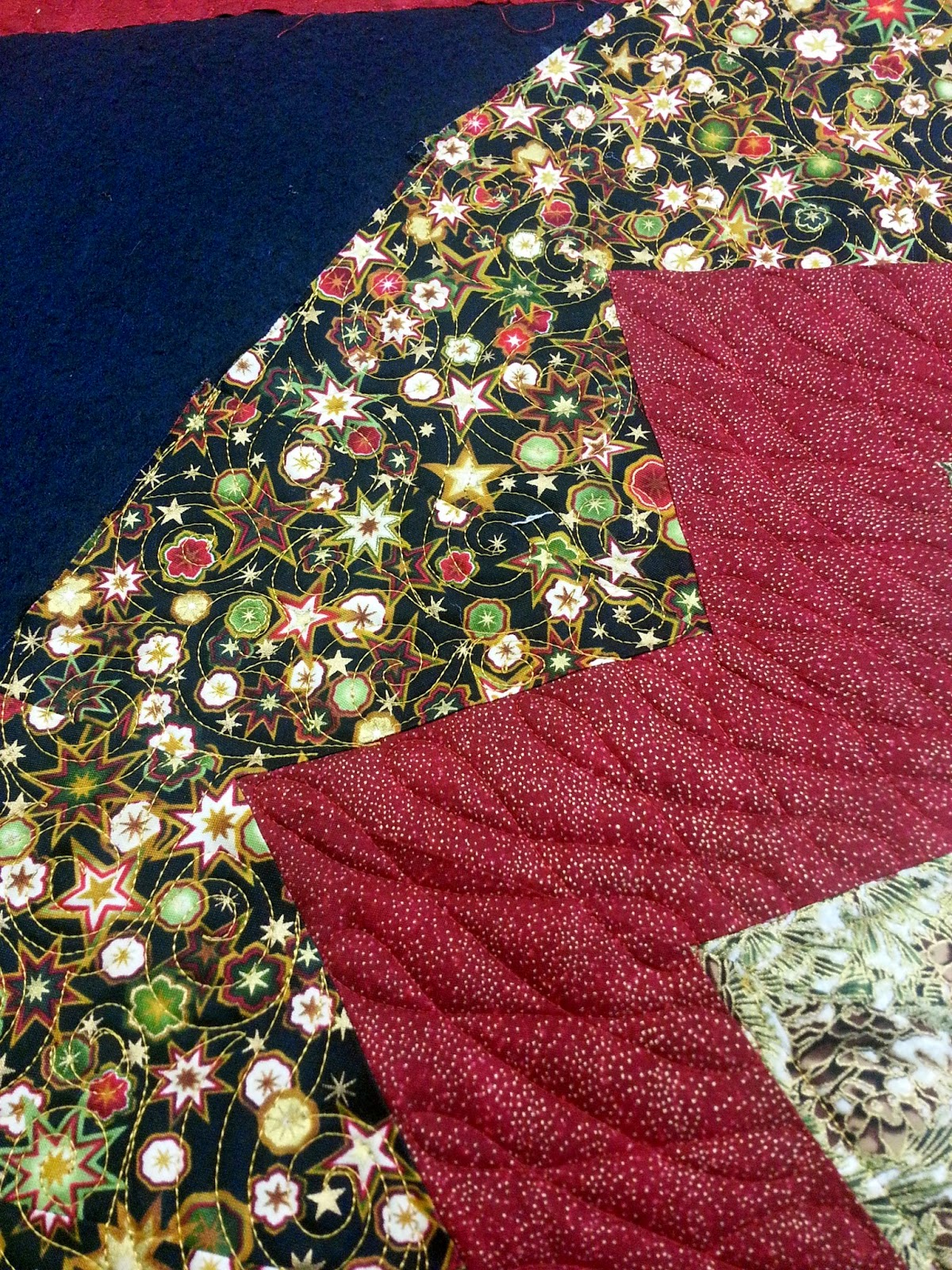 Mountain quiltworks christmas tree skirt quilted