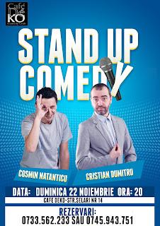 Stand-Up Comedy Duminica 22 Noiembrie Bucuresti @ Cafe Deko