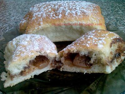 Almás nutellás bukta, kelt tésztás sütemény recept.
