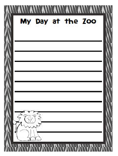 Photo Free Zoo Themed Learning Activities and Zoo themed journal writing paper